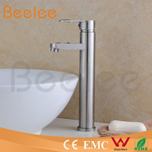 HS15002H lead free inox sus304 Stainless steel high body one hole single handle bathroom basin faucet