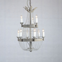 classic ul crystal chandelier lamp,unique iron chandelier with crystal made in china