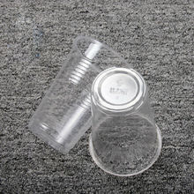 Clear disposable plastic cup for household