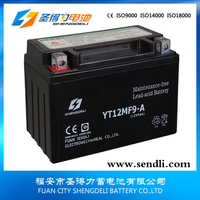 12n9 bs motorcycle lead acid battery pack 12n9-bs 12v 9ah