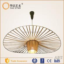 large modern fabric caracole pendant lamp