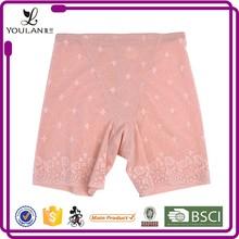 pink breathable leg slimming high waist bamboo charcoal body shaper