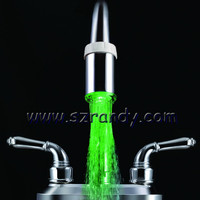 LED Wash Basin mixer Tap/Green color Automatical changing water tap LD8001-A1