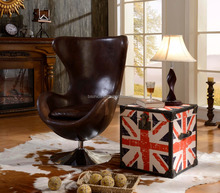 American Replica Egg Shell Genuine Leather Chair/Special Design Brown Leather Leisure Chair