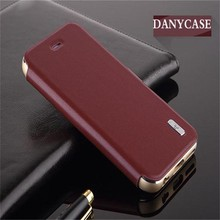 Colorful Phone Case with Metal For Iphone 6. Wholesale Flip Leather Case Cover For Iphone 6