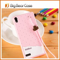silicon cute case for huawei ascend p6