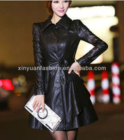 2014 europen fashion belts pu leather women coat