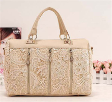 A208 Elegant three zippers lace bag branded office bag