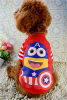 2014 New Winter Captain America Dog Costumes 0111 pets Clothes