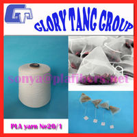 100 biodegradable polylactic acid yarn, 100% pla yarn for tea bags thread