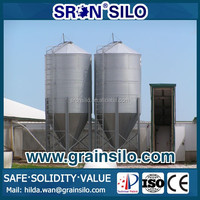 Hot Galvanized Poultry Feed Silo Used for Poultry Farm, Small Grain Silo for Sale