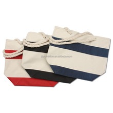 cotton bag with Contrast bottom and handles in classic colors