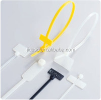 nylon Plastic marker cable tie tag with custom logo
