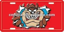 Animal decorative metal car license plate metal sign art