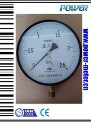 """(Y-150A) 6""""150mm black steel case bottom connetion natural gas pressure gauge manometer"""