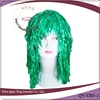 hot sell cheap green party tinsel wigs