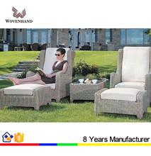 2015 outdoor furniture garden sofa/ottoman set with aluminum frame