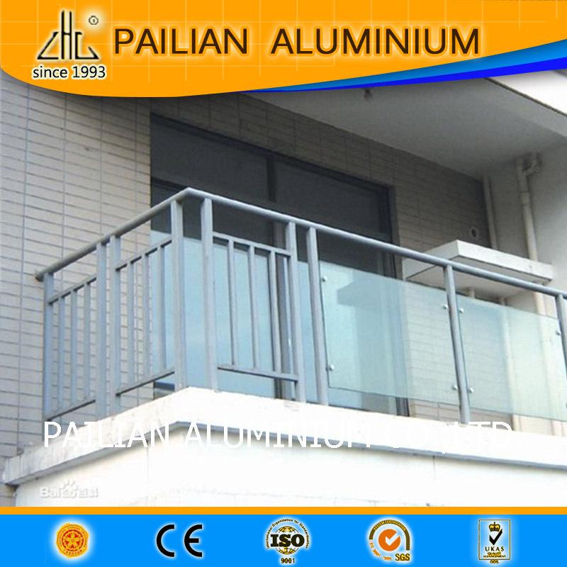 Экструдированный 6063 алюминий стекло перила, анодированный .