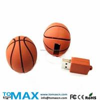 4G 8G 16G 32G 64G basketball USB flash drive 3D PVC ball pendrive
