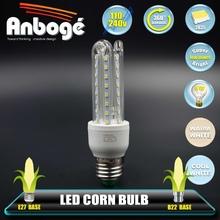 Wide beam angle led corn lamp, 2U 3U 4U shape led bulb light, aluminum + plastic housing energy saving corn lamp