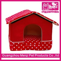 High quality memory foam small dog bed house shape pet bed