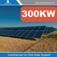 Free maintenance 300kw solar electric system include chinese solar panels for sale also with grid connected solar inverter