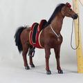 Figuras de animais baratos alta simulação cavalo de sela