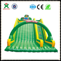 Little Bear Theme giant and cheap inflatable water slide for sale (QX-116J)