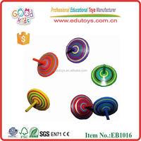 Wholesale 5 colours Fruit Shape Wooden Peg-top for kids