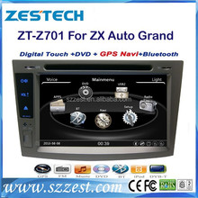 ZESTECH OEM 2 Din Touch screen Car Lcd Monitor for ZX Auto Grand Tiger with gps radio audio navigation system autoparts