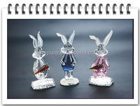 small crystal rabbit figurine , crystal rabbit model manufacturer