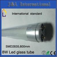 2014 big beam angle high quality LED tube T8 8W 2ft