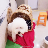 2015 New Pet Products wicker craft natural pet bed cheap dog houses