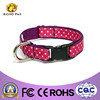 White and red dot design collar,fashion matched dog collar