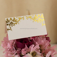 Gold foiling white thank you paper card for Thanksgiving theme