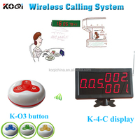 Wireless Paging System With Pager Display Can Show 3 Groups Of Number and Paging Radio Transmitters