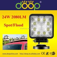9-32V 2080LM 8PCS 3W Epistar Chips Spot/Flood Beam Off Road LED Work light for truck,atv,utv,4wd accessories