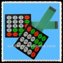 2012 hot sale flat matrix membrane keyboard