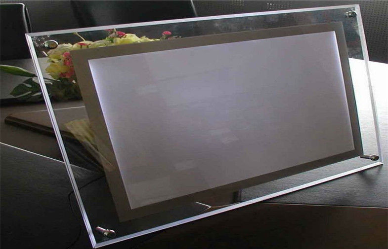best quality clear acrylic led crystal light box/acrylic advertising led photo light box