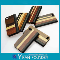 2014 custom fashion leather wood plastic mobile phone back cover case for iphone 5 5s accessories OEM brand