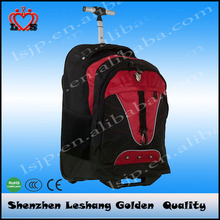 Business and leisure travel rolling backpack large luggage wheeled backpack