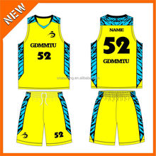 Quick Dry fashion yellow custom sporty matching uniform wear