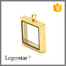 Legenstar 2015 Wholesale Costume Jewelry Gold Stainless Steel Locket Pendant
