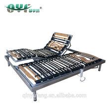 diseño italiano de doble tamaño de listones de la cama eléctrica con marco okin motor eléctrico