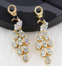 Wholesale gold Plated Pierced Necklace Pendant and Earrings Jewelry Sets for women