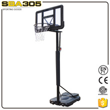 adult ceiling solid pole basketball stand for competition