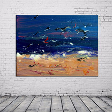 Wholesale High Quality Low Price Handmade Sky And Sea Abstract Decor Oil Painting On Canvas