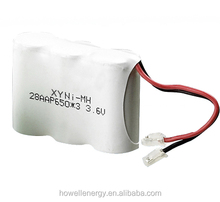 UN38.3 UL Approved ni mh rechargeable battery pack aaa 650mah / 3.6v 650mah ni-mh batteries pack