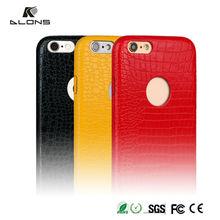 Luxury Crocodile Genuine PU Leather pu case for iphone 6