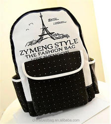 Fashion Style Printed Canvas Backpack For College Student